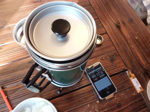 アルポットをセットして湯沸しスタート