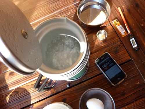 アルポットのお湯沸騰