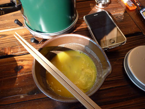 アルポットに入れる溶き卵