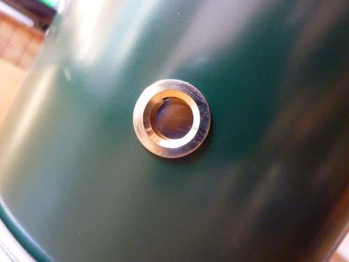アルポットの覗き穴から燃焼状態確認