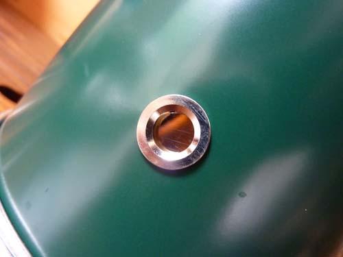 アルポット側面の覗き穴で燃焼状態を確認