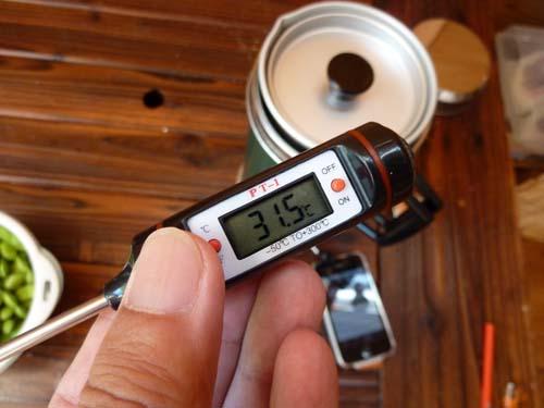 デジタルペンサーモで外気温測定