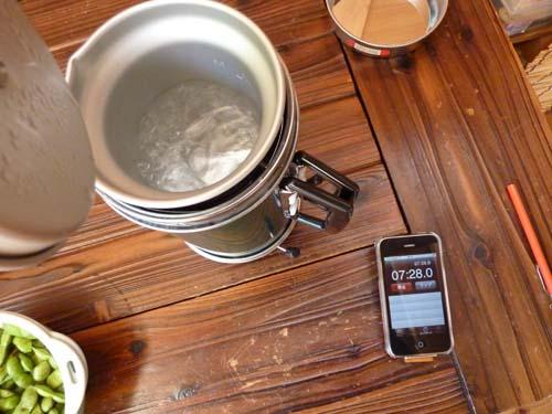 アルポットで湯沸し完了