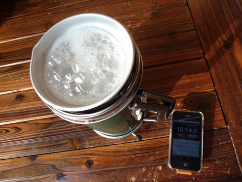 アルポットで炊飯 約10分時点の画像