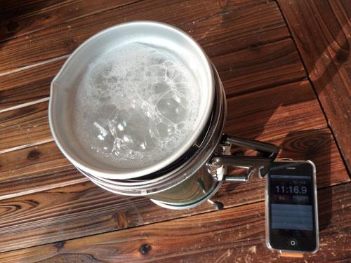 アルポットで炊飯 約11分時点の画像