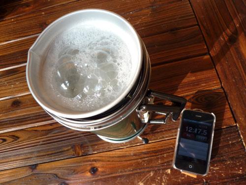 アルポットで炊飯 約12分時点の画像