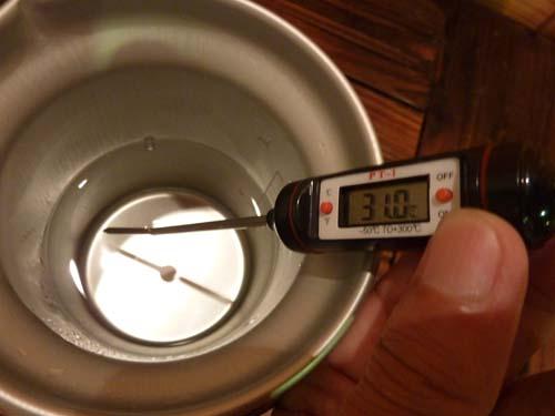 アルポットの水温測定